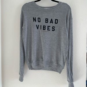NWT Spiritual Gangster No Bad Vibes Long Sleeve